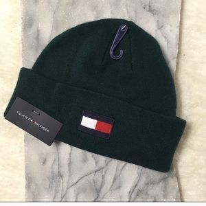 Tommy Hilfiger Logo Beanie Dark Green New Gifts